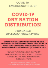 COVID 19 Emergency Relief By AMAM Foundation Galle