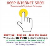 Keep Internet Safe - Awareness and Signature Campaign